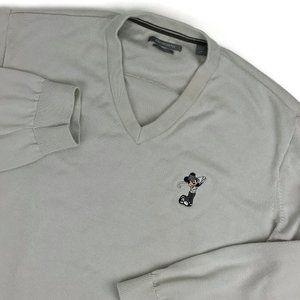 Ashworth Pima Cotton Mickey Mouse Golf Sweater XXL